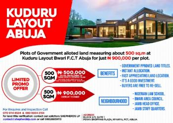 Federal Govt Allotted Land, Directly Beside The Nigerian Law School, Kuduru, Bwari, Abuja, Residential Land for Sale