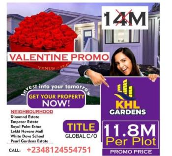 Dry Land with C of O in a Developed Area, Behind Shoprite Off Cmb Road, Khl Gardens, Sangotedo, Ajah, Lagos, Residential Land for Sale