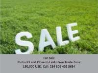 For Sale: Plots Of Land @ Okun- Ilado, Lekki Free Trade Zone, Lekki, Lagos, Land For Sale