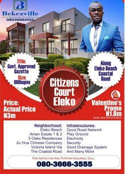 Land, Genesis Court, Eleko Beach, Lekki Caistal Road, Eleko, Ibeju Lekki, Lagos, Mixed-use Land for Sale