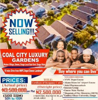 Verified Land 500sqm, Coal City Luxury Garden, Nkubor Near Emene Main Market, Emene, Enugu, Enugu, Residential Land for Sale