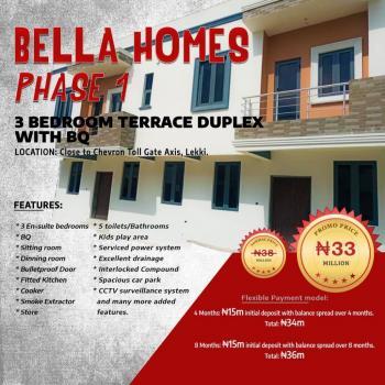 Luxurious 3 Bedroom Terrace Duplex +bq, Tastefully & Affordable Duplex @2nd Toll Gate ,orchid Road, Lekki Phase 2, Lekki, Lagos, Terraced Duplex for Sale