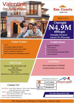 Affordable Land with C of O, Abijo Gra, Abijo, Lekki, Lagos, Residential Land for Sale