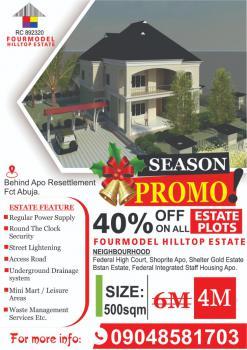Land, Behind Apo Resettlement Hills Fcda, Apo, Abuja, Residential Land for Sale