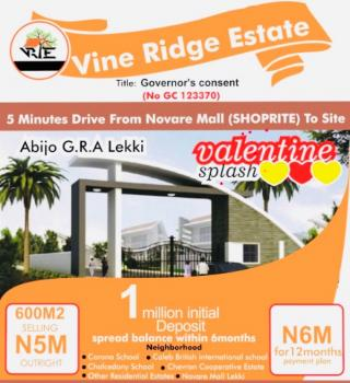 Estate Land, Vine Ridge Estate,  Abijo Gra Near Chevron Corp Estate, Abijo, Lekki, Lagos, Residential Land for Sale