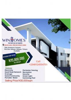 Buy and Build Land with Governors Consent, Winhome Estate, Okun Ajah Orchid Road, Lekki Phase 2, Lekki, Lagos, Residential Land for Sale