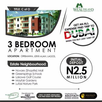 3 Bedroom Apartment ( C of O), Oribanwa, Lekki Peninsula, Sangotedo, Ajah, Lagos, Block of Flats for Sale
