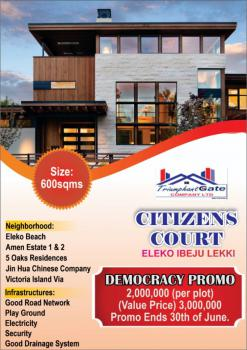 Land, Citizens Court, Eleko, Ibeju Lekki, Lagos, Mixed-use Land for Sale