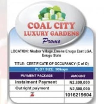C of O Land, Nkubor Town, Emene, Enugu, Enugu, Residential Land for Sale
