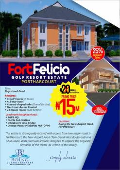 Land, Fort Felicia Estate, Sharing Fence with International Airport, Omagwa, Port Harcourt, Rivers, Mixed-use Land for Sale