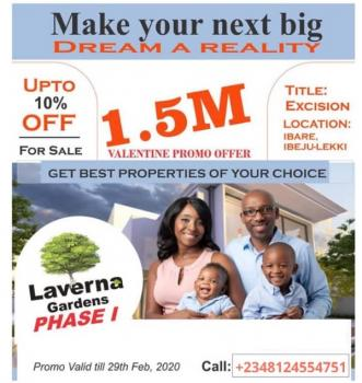 Dry Affordable Land Near Expressway with Approved Layout, a Few Minutes From Eleko Junction and Pan Atlantic University, Eleko, Ibeju Lekki, Lagos, Residential Land for Sale