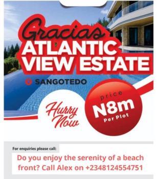 Approved Layout, Beachfront Land, Sangotedo Beachfront Dew Minutes From Shoprite, Atlantic View, Sangotedo, Ajah, Lagos, Residential Land for Sale