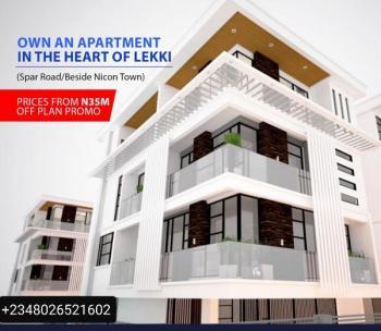 Luxury 4 Bedroom Terrace + Bq, Spar Road /beside Nicon Town, Lekki, Lagos, House for Sale