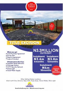 Government Approved Excision, Queens Garden Estate Eleko., Eleko, Ibeju Lekki, Lagos, Residential Land for Sale
