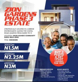 Plots of Land with Government Approved Excision, Zion Gardens Phase 3, Eleko, Ibeju Lekki, Lagos, Mixed-use Land for Sale