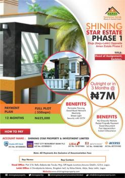 Affordable Land with an Appropriate Title, Eluju Opposite Amen Estate Phase 2, Eluju, Ibeju Lekki, Lagos, Residential Land for Sale