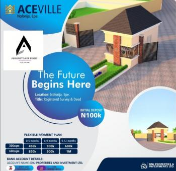 Affordable, Dry Estate Plots of Land with Registered Survey and Deed, Lafiaji, Epe, Lagos, Residential Land for Sale