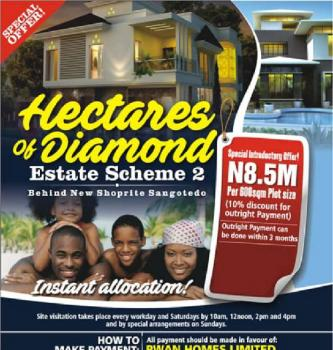 Estates Land, Behind Novare Mall Hectares of Diamond 2 Location: Monastery Road (san, Sangotedo, Ajah, Lagos, Residential Land for Sale
