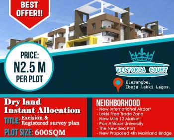 Estate Land Excision, Close to Amen Estate,pan Atlantic University,before Refinery, Eleranigbe, Ibeju Lekki, Lagos, Residential Land for Sale