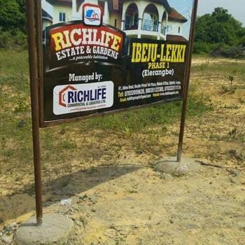 Richlife Buy & Build Land, Richlife Estate & Gardens Phase 1, Madagbayun, Eleranigbe, Ibeju Lekki, Lagos, Residential Land for Sale