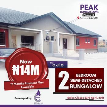 with Just 5m Own 2 Bedroom Semi-detached at Peak, Lagos, Awoyaya, Ibeju Lekki, Lagos, Semi-detached Bungalow for Sale