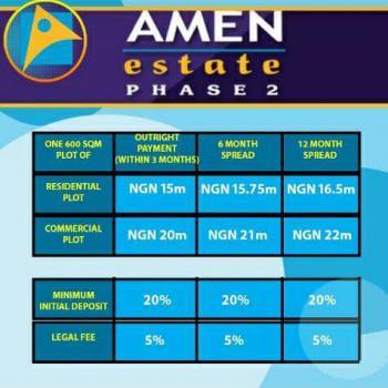 600 Sqm Plot of Land, Amen Estate Phase 2, Ibeju Lekki, Lagos, Residential Land for Sale