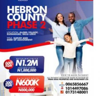 Estate Land, Close to Pan Atlantic University Before Dangote Refinery, Eleranigbe, Ibeju Lekki, Lagos, Residential Land for Sale
