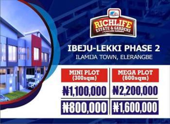 Land, Richlife Estate & Gardens, Ilamija Town, Phase 2, Eleranigbe, Ibeju Lekki, Lagos, Residential Land for Sale
