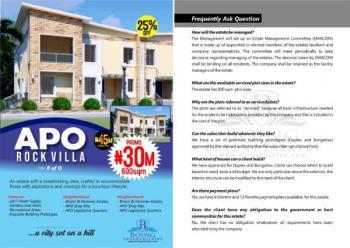 Land, Apo Rockvilla Estate, Apo, Abuja, Residential Land for Sale