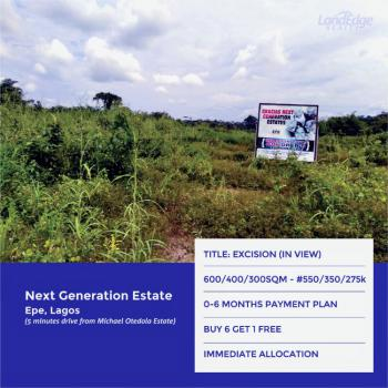 Land, Behind Micheal Otedola Estate, Epe, Lagos, Residential Land for Sale