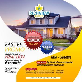 Land, Richview Estate, Akodo General Hospital, Alatise, Ibeju Lekki, Lagos, Mixed-use Land for Sale