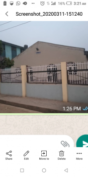 Church Building with 2rooms and a Toilet, Ile Epo Alhadji Egbeda Lagos, Egbeda, Alimosho, Lagos, Detached Bungalow for Rent