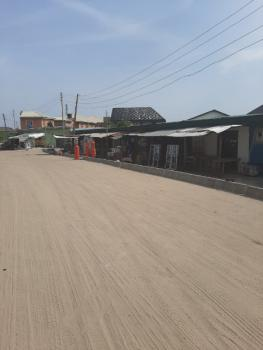 Fenced 3 Plots of Land with Shops Facing an Interlocking Road., Before Sangotedo Shop Rite, Sangotedo, Ajah, Lagos, Mixed-use Land for Rent
