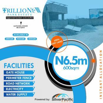 Land, Trillion Park Estate, Alatunshe Community, Bogije, Ibeju Lekki, Lagos, Residential Land for Sale