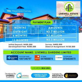New Sited Area 100% Dry,government Approved Exicision, Livewell Estate, Ogogoro, Ibeju Lekki, Few Mintes Drive Away From Dangote Refinery, Ogogoro, Ibeju Lekki, Lagos, Residential Land for Sale