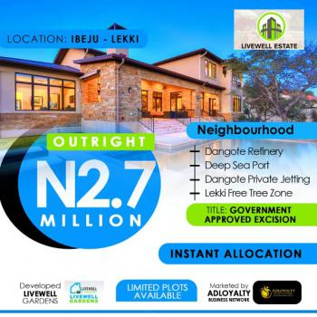Plots of Lands Available in a Top Notch Estate, Livewell Estate, Ogogoro, Ibeju Lekki, Lagos, Mixed-use Land for Sale