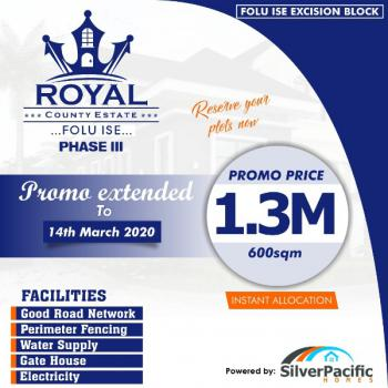 100%dry + Instant Allocation on Royal County 3, Few Mins to Lacampagne Tropical Beach and Dangote Private Jetty, Folu Ise, Ibeju Lekki, Lagos, Residential Land for Sale