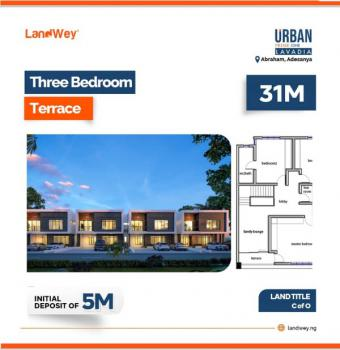 Threee Bedroom Apartment with Excellent Facilities, Along Abraham Adesanya Road, Ajah, Lagos, Terraced Duplex for Sale