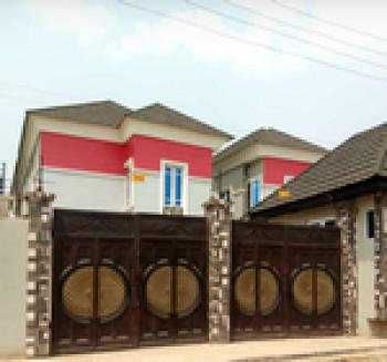 Luxury 4 Bedroom Duplex with a Bq, Palm View Estate Just 15 Mins Drive to Shoprite, Alausa, Ikeja, Lagos, Detached Duplex for Sale