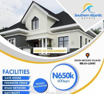 a Good and Developed Estate, Southern Atlantic Estate., Few Mins to La Campangne Tropicana., Folu Ise, Ibeju Lekki, Lagos, Mixed-use Land for Sale