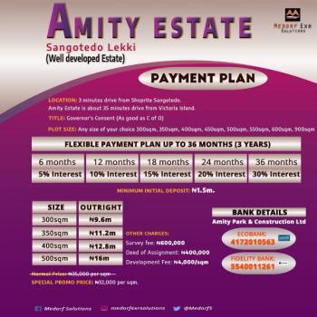 a Well Developed Estate,  Amity Estate ., Sangotedo, Ajah, Lagos, Residential Land for Sale