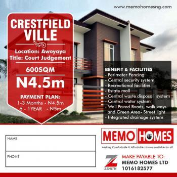 Crestfield Ville, Awoyaya, Ibeju Lekki, Lagos, Mixed-use Land for Sale