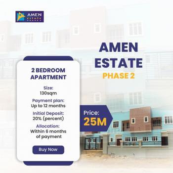 Off Plan 2 Bedroom for Purchase, Amen Estate Phase 2, Eleko, Ibeju Lekki, Lagos, Block of Flats for Sale