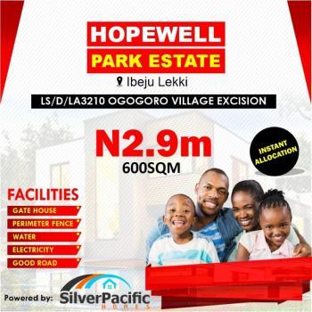 Land, Hopewell Park Estate, Ogogoro, Ibeju Lekki, Lagos, Residential Land for Sale