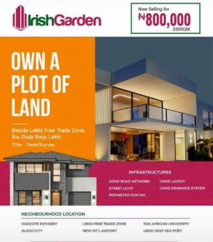 Irish Garden, Beside Lekki Free Trade Zone, Oloja, Ibeju Lekki, Lagos, Mixed-use Land for Sale