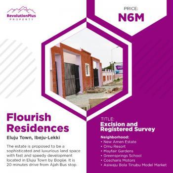 Estate Land, Certificate of Occupancy, Before Pan Atlantic University 35 Minutes Away From Ajah, Eluju, Ibeju Lekki, Lagos, Residential Land for Sale