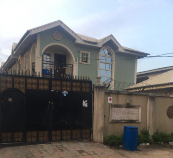 4 Bedroom Duplex with 2 Bedroom Flats Attached, Aina Close Around Nnpc, Ejigbo, Lagos, Semi-detached Duplex for Sale