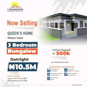 3 Bedroom Bungalow Apartment, Queens Garden Estate, Mowe Ofada, Ogun, Semi-detached Bungalow for Sale