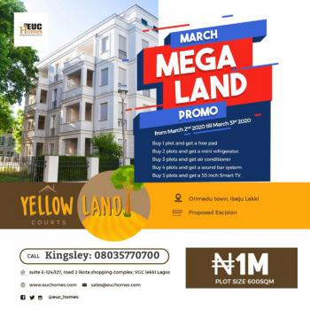 Yellowland Courts, Orimedu Town, in Ibeju-lekki, Orimedu, Ibeju Lekki, Lagos, Residential Land for Sale
