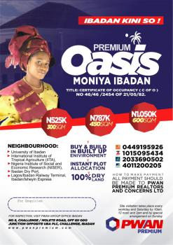 Buy and Build Land in a Built Up Area. Title: C of O, Moniya, Ibadan, Oyo, Mixed-use Land for Sale